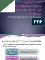 El Macroambiente y Microambiente de Las Empresas