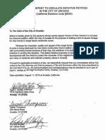 Arcadia Petition