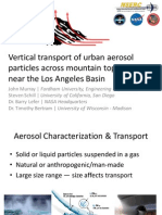 Vertical transport of urban aerosol particles across mountain topography near the LA Basin
