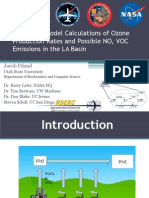 Novel puff model calculations of ozone production rates and possible NO, VOC emissions in the LA Basin