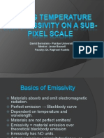 Finding Blackbody Temperatures and Emissivities on a Sub-Pixel Scale