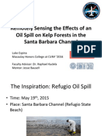 Remotely Sensing the Effects of an Oil Spill on Kelp Forests in the Santa Barbara Channel
