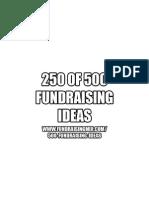 250 of 500 Fundraising Ideas