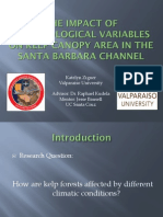 The impact of climatological variables on kelp canopy area in the Santa Barbara Channel
