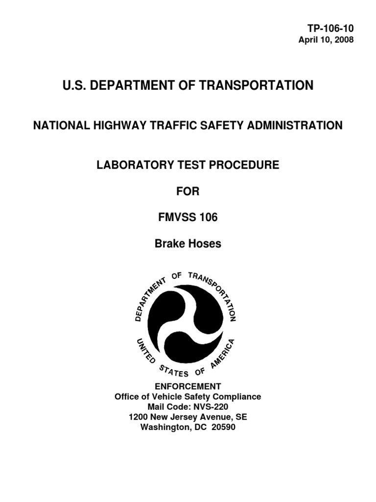 Tp 106 10 National Highway Traffic Safety Administration Calibration