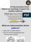 The Impact of Teleconnection-Driven Patterns on Long-Range Transport into Southern California