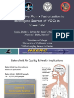 Using Positive Matrix Factorization to Investigate Sources of VOCs in Bakersfield