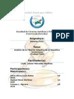 Analisis de La Filiacion Adoptiva en La Rep. Dom. (Trabajo Final)