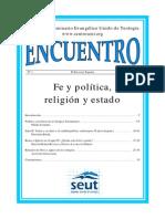 Fe y Política, Religión y Estado