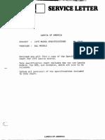 Lancia Beta 1976 Misc Documents-Tech Spec