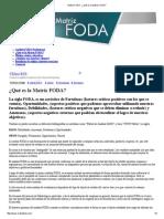 Matriz FODA - ¿Qué Es La Matriz FODA