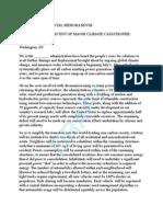 Climate Emergency Memorandum