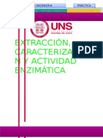 EXTRACCION, CARACTERIZACION Y ACTIVIDAD ENZIMATICA