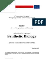2005 NEST Documento Referencia Sobre Biologia Sintetica