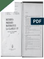 Ioan Neacsu Metodica Predarii Matematicii La Clasele I-IV