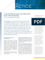 Linking Business Tax Reform with Governance - How to measure success
