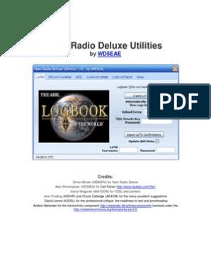 Ham Radio Deluxe Utilities | Password | World Wide Web