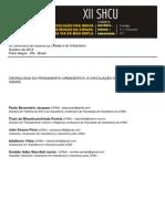 Cronologia DoCronologia do Pensamento Urbanístico - a circulação de ideias sobre a cidade Pensamento Urbanístico - A Circulação de Ideias Sobre a Cidade