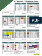 calendario provisorio 2014