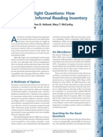 Asking the Right Questions How to Select an Informal Reading Inventory