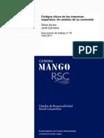 Códigos Éticos en las Empresas españolas