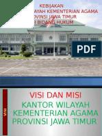 Kebijakan Kanwil Oke Dalam Hukum 2015pptx Oleh Drs. HM. Mustain, M.Ag