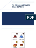 Amounts and Containers Flashcards