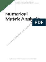 Numerical Analysis Complex Matrix