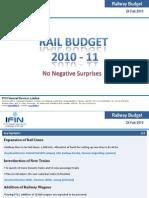 Railway Budget 2010-11-24 Feb 2010 (IFIN)