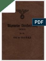 Allgemeine Dienstordnung Der SA 1933