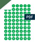 249 KP Horary Numbers in Green