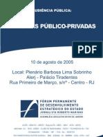 Parcerias publico privadas - 2005