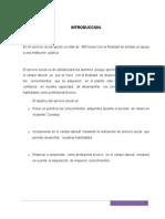 EJEMPLO DE INFORME DE Servicio Social