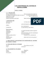 Certificado de Conformidad Del Sistema de Puesta a Tierra