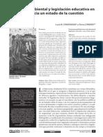 Condenanza y Cordero Educación Ambiental y Legislación Educativa en Argentina