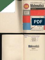 160996041 Algebra Manual Pentru Clasa a Viii a Ioan Craciunel Gaiu Liliana Niculescu Petre Simion Tiberiu Spircu