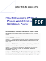 PROJ 584 Managing SW Devel Projects Week 8 Final Exam
