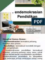 Pendemokrasian Pendidikan