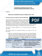 Actividad de Aprendizaje Unidad 3 Requisitos e Interpretación de La Norma ISO 90012008(1)