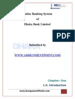 Online Banking System of Dhaka Bank Ltd