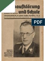 Volksaufkärung Und Schule Nr.44 Mai 1938