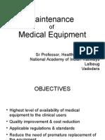 Medical Equipment Maintenance