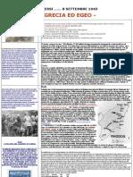 8 Settembre 1943 - Un Esercito Di Dispersi Grecia