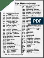 Die Kraftfahrzeugkennzeichen Des Deutschen Reiches 1936