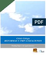 Crisis Griega. REFORMAS Y PRIVATIZACIONES