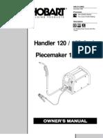 handler 140 180 and h 10 gun owner\u0027s manual weldinghobart handler 120 150 welder manual
