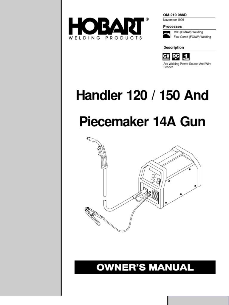 hobart handler 120    150 welder manual