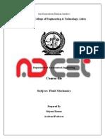 Course File Format Fluid Mechanics