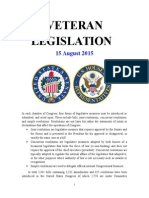 Veteran Legislation 150815