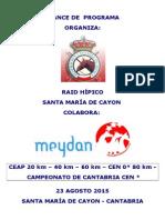 AVANCE DE PROGRAMA RAID SANTA MARIA DE CAYON 2015.doc